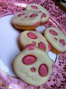 Plate of panda biscuits