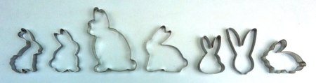 Row of bunny biscuit cutters