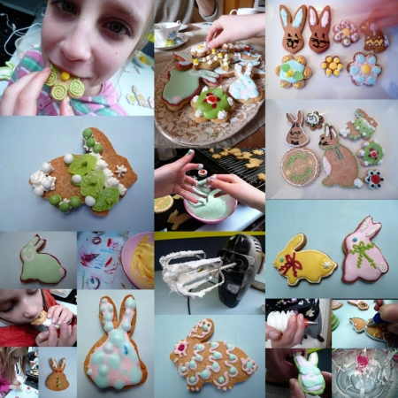 collage iced biscuits