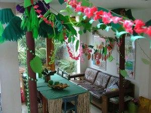 jungle party wide shot