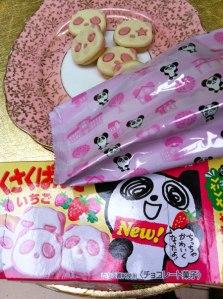 Kabaya strawberry panda biscuits