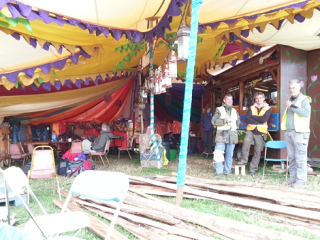 Glastonbury Tiny Tea Tent