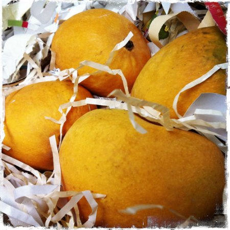 mangoes in paper