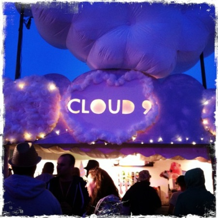 Cloud 9 sign at Glasto