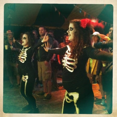 Day of the Dead dancers at Glasto