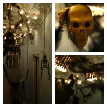 halloween decorations skulls and skeletons