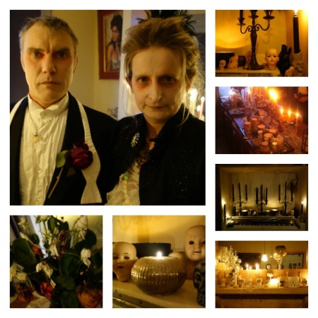 collage halloween decs