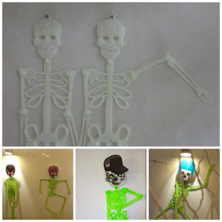 halloween skeleton collage