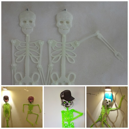 halloween skeleton collage