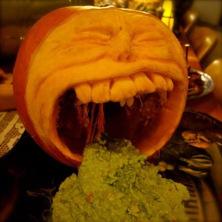 vomiting halloween pumpkin