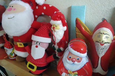 Santas on a shelf