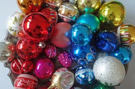 vintage glass Christmas baubles