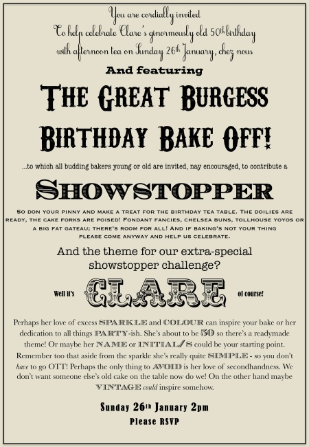 bake off birthday invite