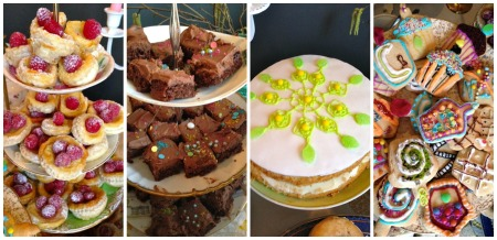 bake off cakes collage