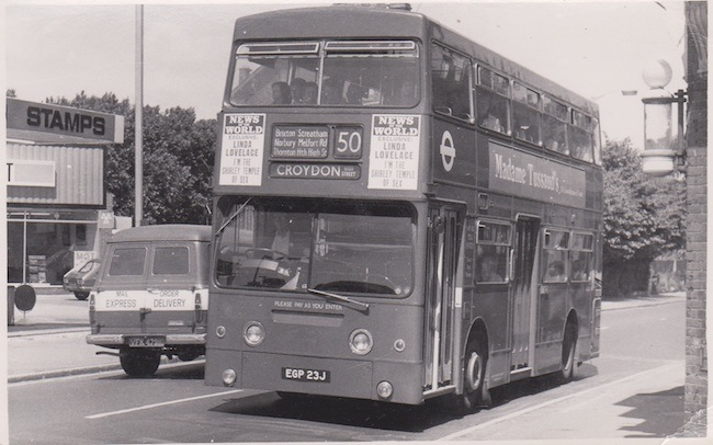 old image of number 50 bus