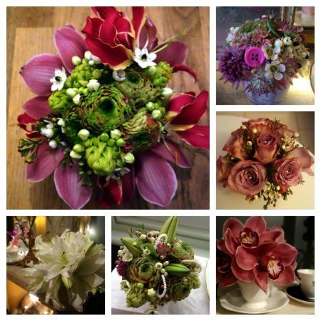 Vintage flowers collage