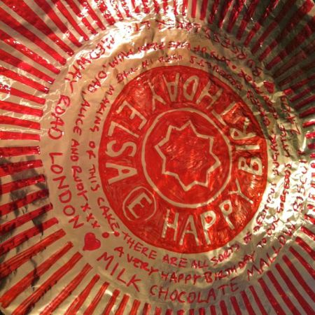 giant Tunnock's teacake wrapper